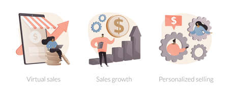 Sales manager abstract concept vector illustrations.