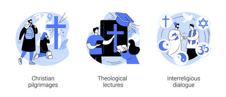 Doctrine of god abstract concept vector illustrations.