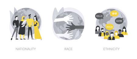 Human diversity abstract concept vector illustrations. Vektoros illusztráció