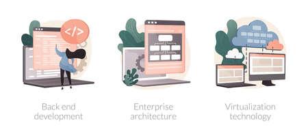 Enterprise software abstract concept vector illustrations. Vektorové ilustrace