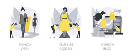Fashion industry abstract concept vector illustrations.