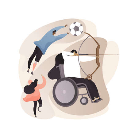 Disabled sports abstract concept vector illustration.