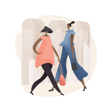 Fashion week abstract concept vector illustration.