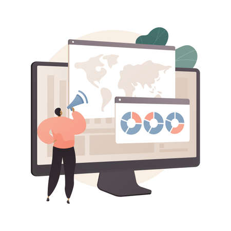 Environment data analytics abstract concept vector illustration.