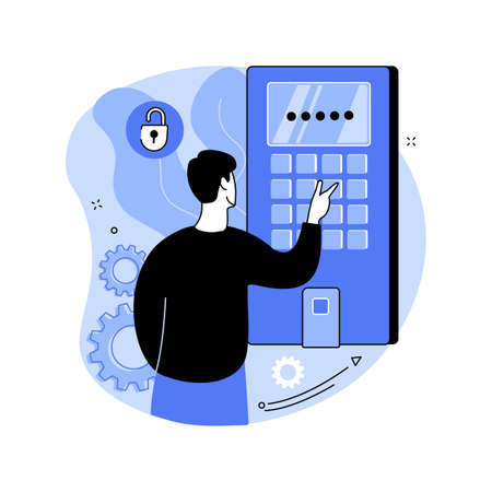 Access control system abstract concept vector illustration.