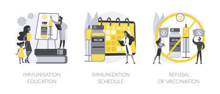 Public health abstract concept vector illustrations.