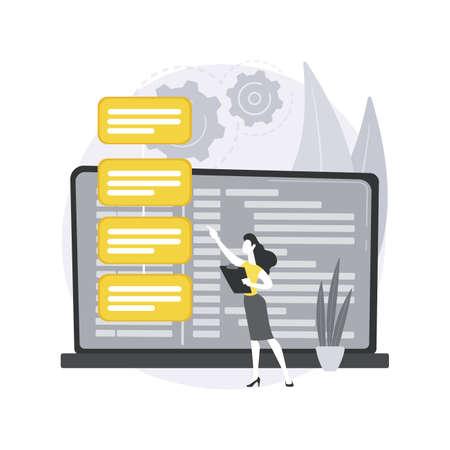 Software requirement description abstract concept vector illustration. Ilustração Vetorial