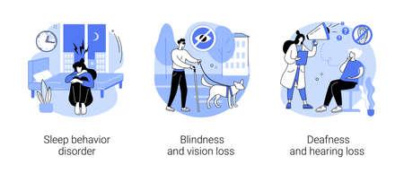 Health problems abstract concept vector illustrations. Vektoros illusztráció
