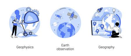 Planetary science abstract concept vector illustrations. Vektoros illusztráció