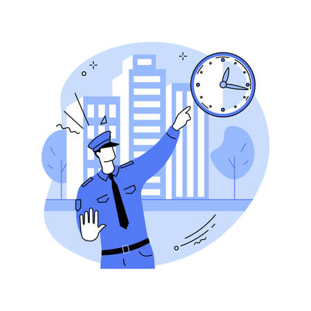 Curfew abstract concept vector illustration.