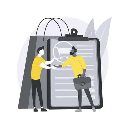 Sales representative abstract concept vector illustration.