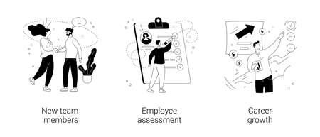 Career development abstract concept vector illustrations. Vector Illustration