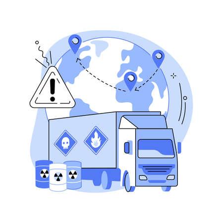 Transport of dangerous goods abstract concept vector illustration. Vektoros illusztráció