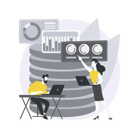 Big data analytics abstract concept vector illustration.