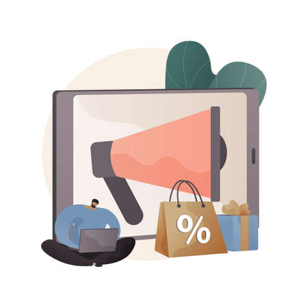 Sales promotion abstract concept vector illustration.