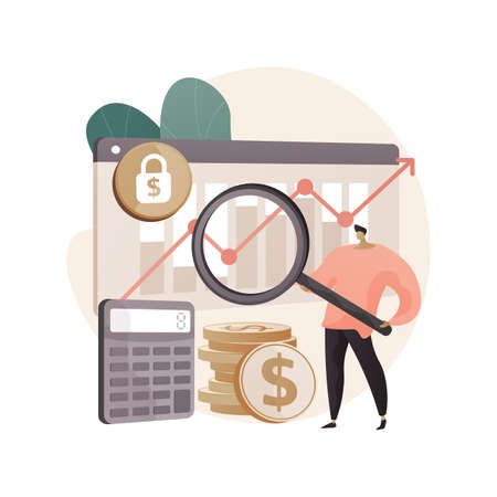 Stock market abstract concept vector illustration.