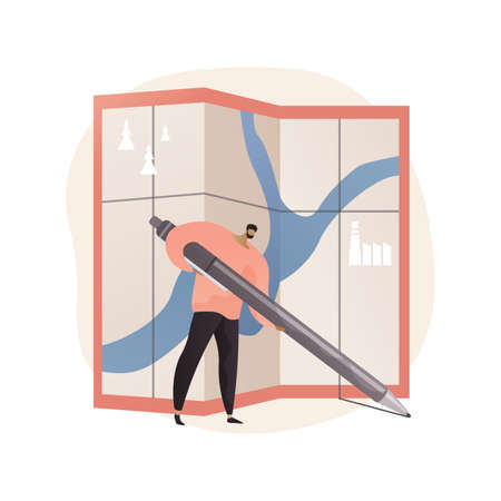 Area management abstract concept vector illustration. Vektoros illusztráció