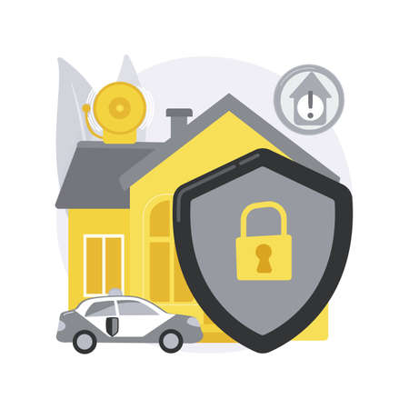 Security systems design abstract concept vector illustration. Vettoriali