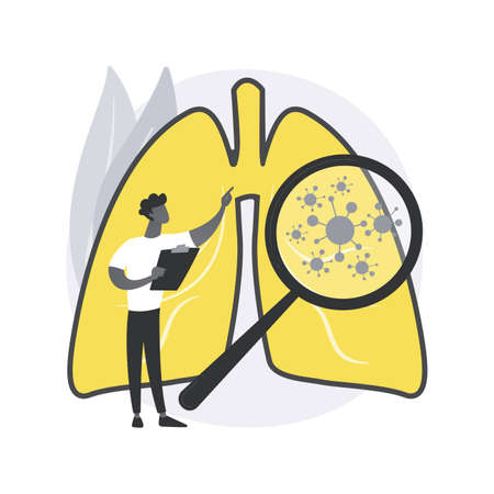 Bronchial asthma diagnosis abstract concept vector illustration.