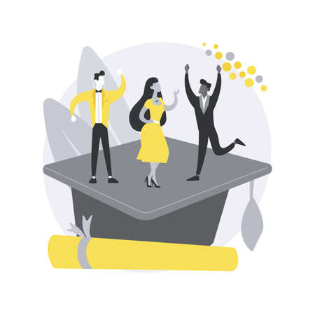 Prom party abstract concept vector illustration.