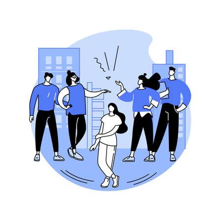 Marginalization abstract concept vector illustration.