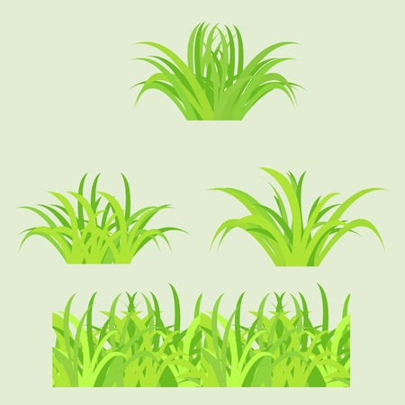 Fragment of paper green grass  Vector illustration  Stock Vector - 22550929
