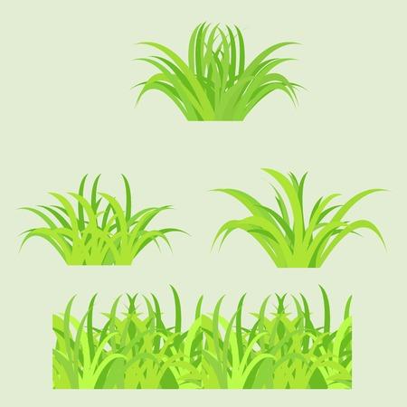 Fragment of paper green grass  Vector illustration Stock Vector - 22550929