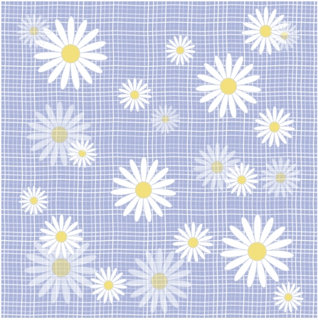 Fabric with daisies  Vector illustration Vector