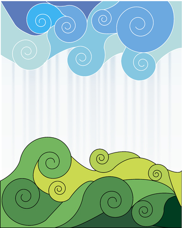 Abstraction sky and grass  Vector illustration Stock Vector - 22550931