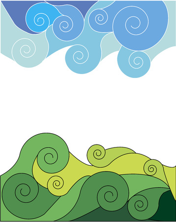 Abstraction sky and grass  Vector illustration Stock Vector - 22550981