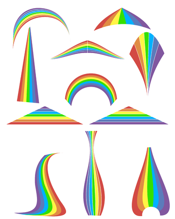 Set of 12 rainbow. Vector illustration Stock Vector - 22550983