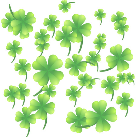 Leaves of clover on a white background Stock Vector - 22971340
