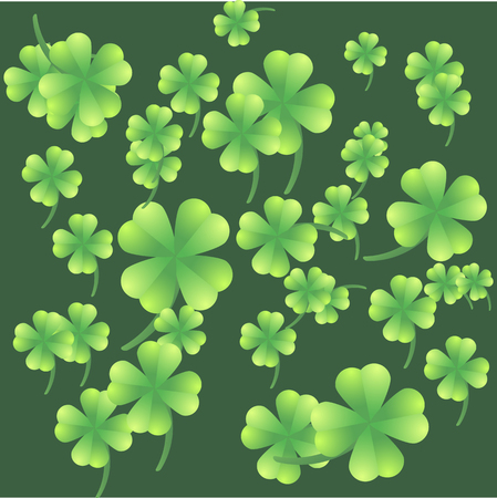 Leaves of clover on a green background Stock Vector - 22971336