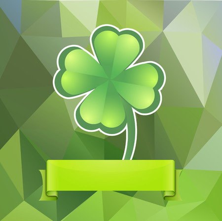 Leaf clover on a green background Stock Vector - 22971339