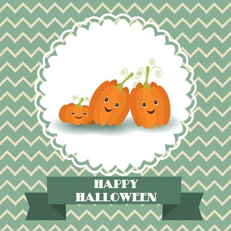 ..Funny pumpkin to the holiday of Halloween Stock Vector - 22971342
