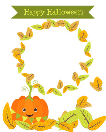 ..Funny pumpkin to the holiday of Halloween Stock Vector - 22971348