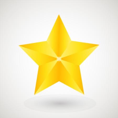gouden ster: Gouden ster op de lichte achtergrond
