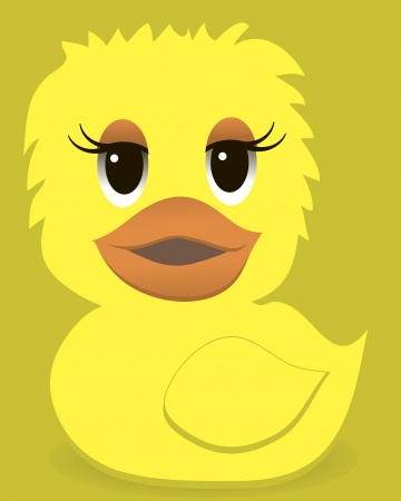 Animal  duck with a color Vector