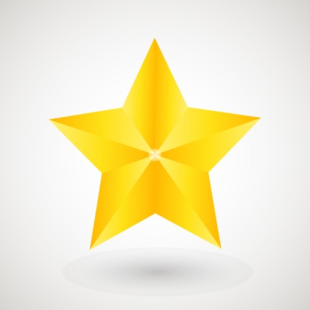 gold star: Gold star on the light background Illustration