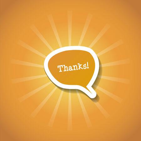 gratitudine: Gratitudine cartolina con i raggi arancioni del