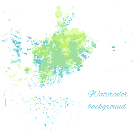 bluegreen: Watercolor blue-green background for your design