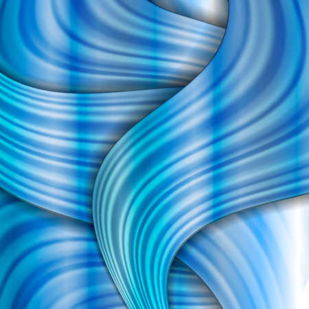 Blue abstract background as smooth small folds Vector