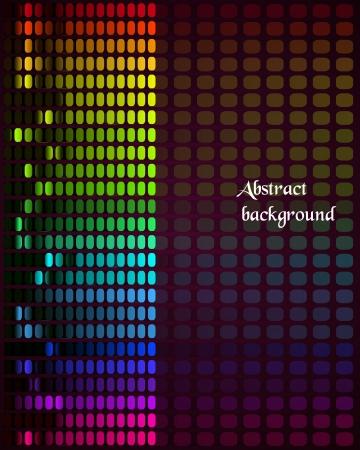 Illustration der bunten musikalischen Leiste mit Volumen auf schwarzem Hintergrund Illustration