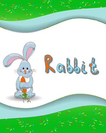 Animal alphabet letter R and rabbit with a colored  Vector