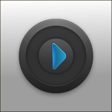 Black Button with the play icon for your project Vector