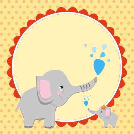 Smart card with an elephant  ? Vector