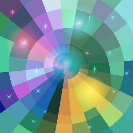 vetrate artistiche: Magico mosaico di vetro colorato con effetti di luce