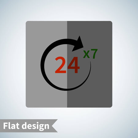 Icon flat  element design for use in your business projects Vector