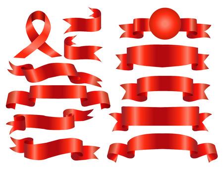 De collectie rode linten banners voor uw bedrijf