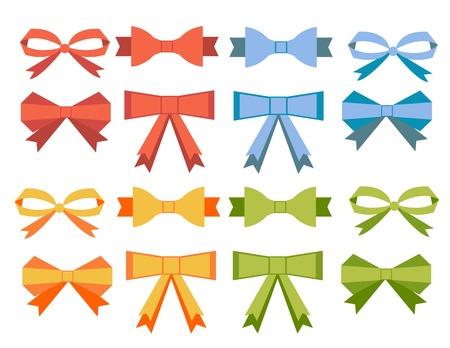 bow ribbon: The collection of flat bow ribbons banners for your business